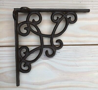 "7.5"" Cast Iron Shelf Bracket Corbel Kitchen Open Shelving Brown"