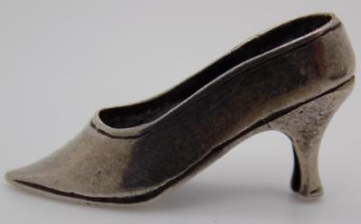 Vintage Solid Silver Italian Made Woman Shoe Miniature, Figurine, Stamped*