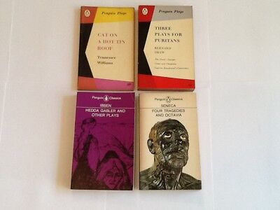 Collection Of Four Vintage Penguin Plays Paperbacks