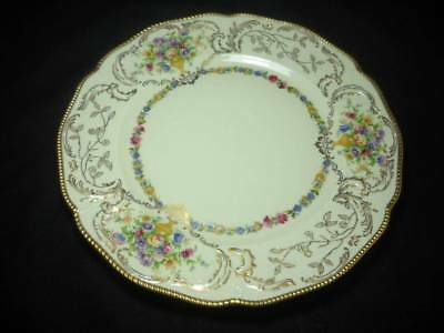 "4 Rare Rosenthal Bavaria Du Barry 8 5/8"" Luncheon Plates Urns Flowers Gold Gilt"