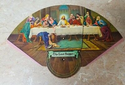 Vintage Advertising Fold Out Fan GALAX VIRGINIA VA Lord's Last Supper Galax Feed