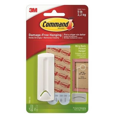 3M COMMAND 17041 | Sawtooth Wire Backed Picture Hanger 2 Large Strips | Hold 2kg
