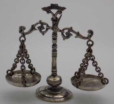 Vintage Solid Silver Italian Made Scale of Justice Miniature, Figurine, Stamped*