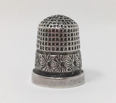 Charles Horner Silver Thimble - 1918 end of WWI