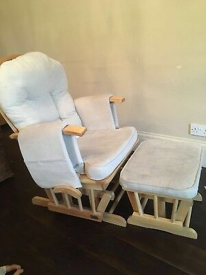 Nursing / gliding / rocking chair and foot stool - perfect for breastfeeding.