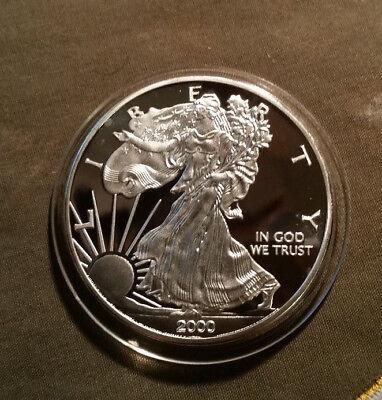 Usa 1 Dollar Münze 2000 American Silver Eagle 1 Oz Eur 1700