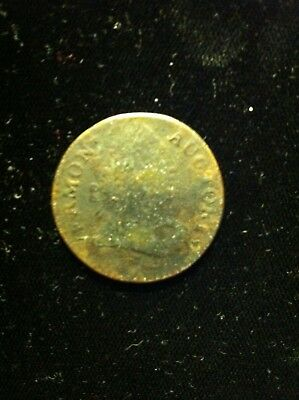 1788 Old Vermont Colonial Copper Coin, Bust Right
