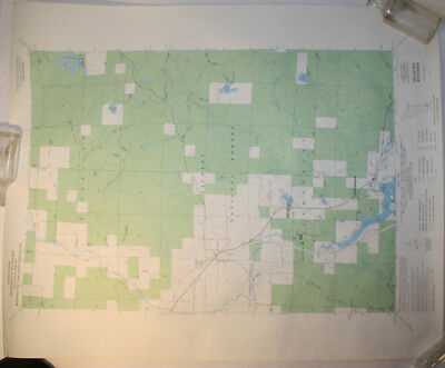 Vintage USGS Map Mountain, WI 1973