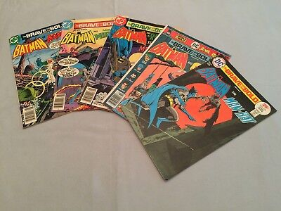 DC Comics The Brave And The Bold Lot 119 130 136 138 142 Bronze 1975 Low Grade
