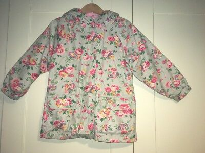 Cath Kidston Girls Summer Coat Jacket Raincoat Spray Flowers Age 3-4 Years