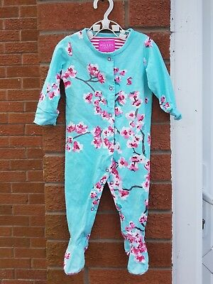 Joules Baby Girls Blossom Printed Babygrow Sleepsuit 3-6 Months VGC