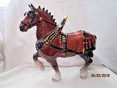 Vintage California Pottery Metlox Poppytrail  Clydesdale Horse