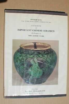 Sotheby's Catalog, Important Chinese Ceramics, Alfred Clark, 1977