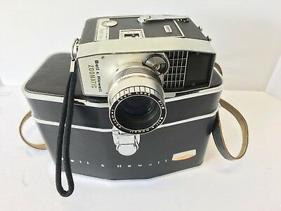 Vintage 8 MM Bell & Howell Zoomatic Directors Series 414 With Case & Untested