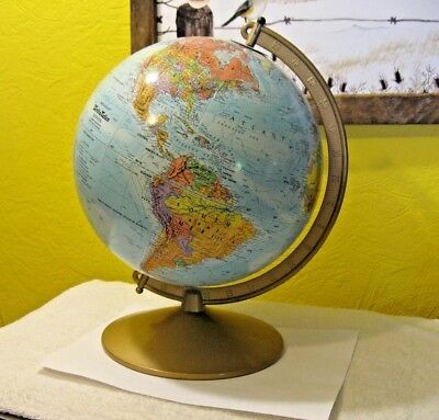 "Vintage Replogle ""world Nation Series"" 10 Inch Globe Pre- Ussr Breakup"