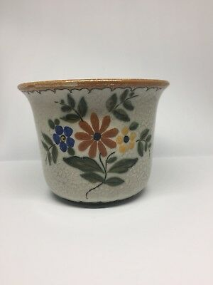 Vintage Royal Zuid-Holland Gouda Signed pot Flower Pottery