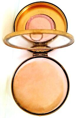 "Vintage STEARN'S DAY DREAM"" Gold Plate DOUBLE COMPACT"". See!"