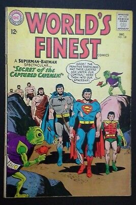 World's Finest Comics #138 (Dec 1963, DC) Silver Age Bearded Batman & Superman
