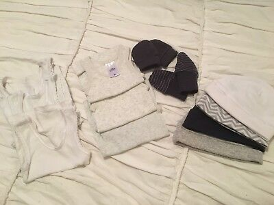 Newborn Singlets (size 0000), Mittens And Beanie Package