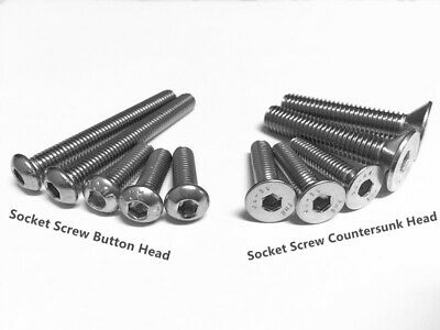 M3 M4 M5 M6 M8 Socket Screw Countersunk Head Button Head Stainless Steel 304