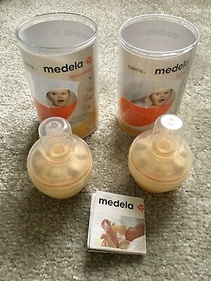 medela calma Breastfeeding System teat bundle X2 BN