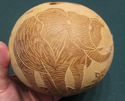 Folk Art Hand carved Gourd South Seas, Pacific Asia Indigenous Art