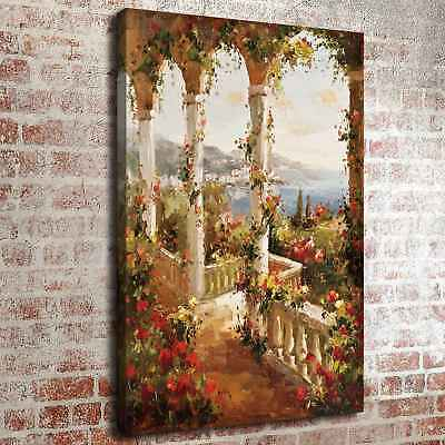 Garden House View Home Decor Room HD Canvas Print Picture Wall Art Painting