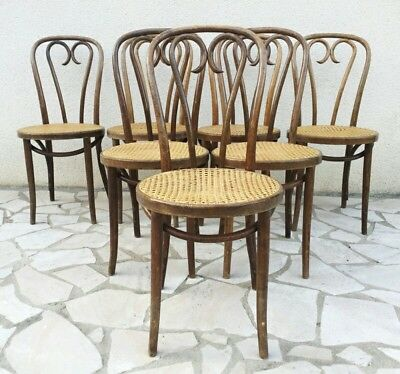 23- Antique Thonet Radomsko Bentwood Cafe Chairs Labeled Made in POLAND
