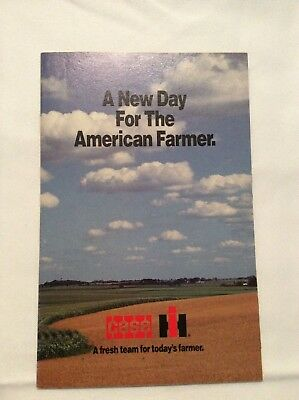 Case IH Merger Brochure 1985 New Day for The American Farmer
