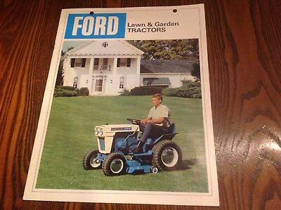 vintage Ford lawn and garden tractor brochure
