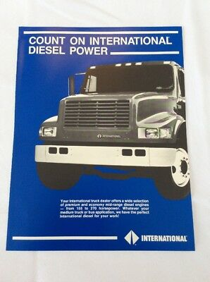 Vintage International Trucks Brochure Count On International Diesel Power
