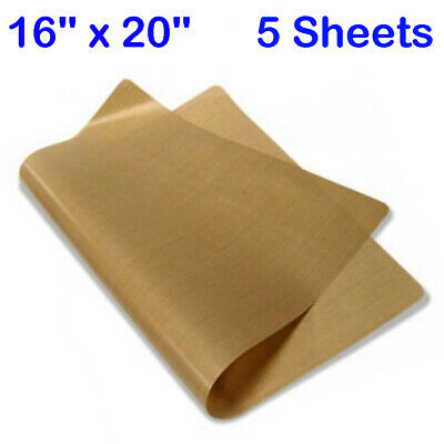 """16"""" x 20"""" PTFE Teflon Fabric Sheet Roll 5Mil for Sublimation Printing Non-stick"""