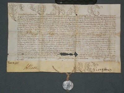 RARE Intact Vellum Papal Bull of Pope Clement XI w/ Attached Lead Bulla, 1713!