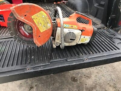 "Stihl Concrete Saw TS400, used gasoline powered with 14"" diamond blade."