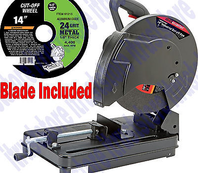14 In Industrial Cut Off Miter Saw For Precision Cut Metal Tubing Tube Masonry