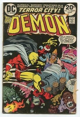 THE DEMON #12 by Jack Kirby (DC Comics, 1973), reader copy FREE SHIPPING!