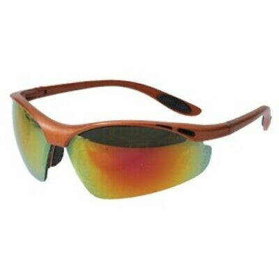 5cf405646be4 Crossfire Talon Performance Safety Glasses Red Mirror Lens Copper Half Frame