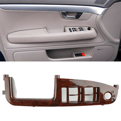Master Window Switch Control Panel Trim Bezel For Audi A4 S4 RS4 Mahogany Color