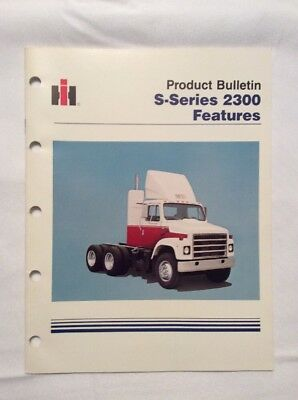 Vintage 80's international harvester S-Series 2300 Features Product Bulletin