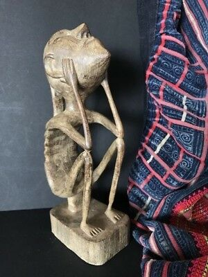 Old Borneo Dayak Carved Wooden Ancestral Male Figure  …beautiful collection...
