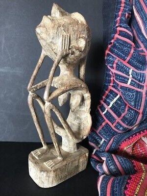 Old Borneo Dayak Carved Wooden Ancestral Female Figure  …beautiful collection...