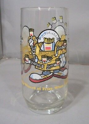 Vintage Burger King Collector's Series Glass ft. The Wizard of Fries 1979