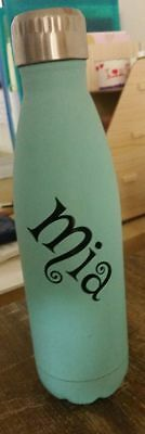 Personalised Drink Bottle Name Decal