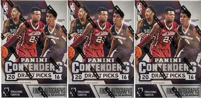 NBA Panini Contenders Draft Picks Basketball - 2016/17 - 7 Pack BOX 2 AUTOS NEW