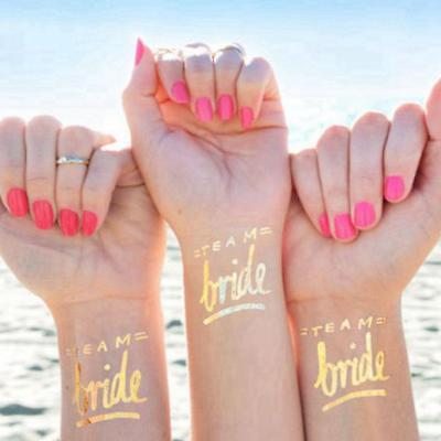 12X Team Bride Tattoo Temporary Transfer Do Party Accessories Wedding Favors.