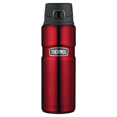 NEW Thermos Stainless Steel Red Vacuum Bottle 710ml