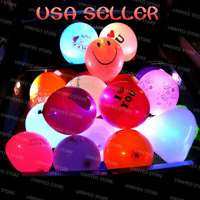 50 pack LED balloons light up balloons PERFECT PARTY decoration wedding birthday