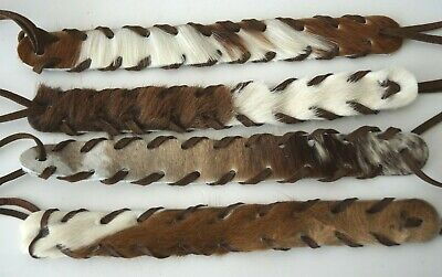 Genuine Cow Fur Hide Leather Hat Band Leather Lacing for Western Style Hats