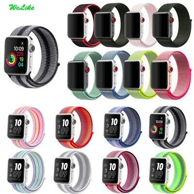 Nylon Sport Loop Band for Apple Watch Series 1 2 3 38/42M for iWatch Watch Band
