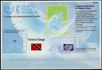 TRINIDAD & TOBAGO Is41 20171023 AA Reply Coupon Reponse Antwortschein Hologram
